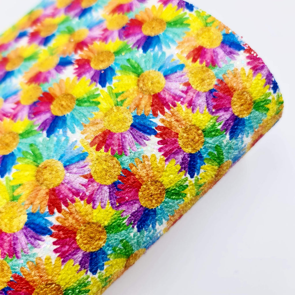Mini Sheet Rainbow Sunflower Chunky Glitter - Jolif The Craft Shop