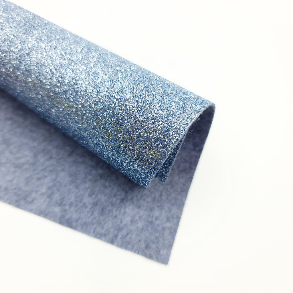Grey Lavender Glitter Felt - Jolif The Craft Shop