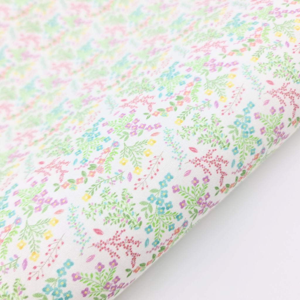 Wild Spring Flowers Fabric Felt - Jolif The Craft Shop