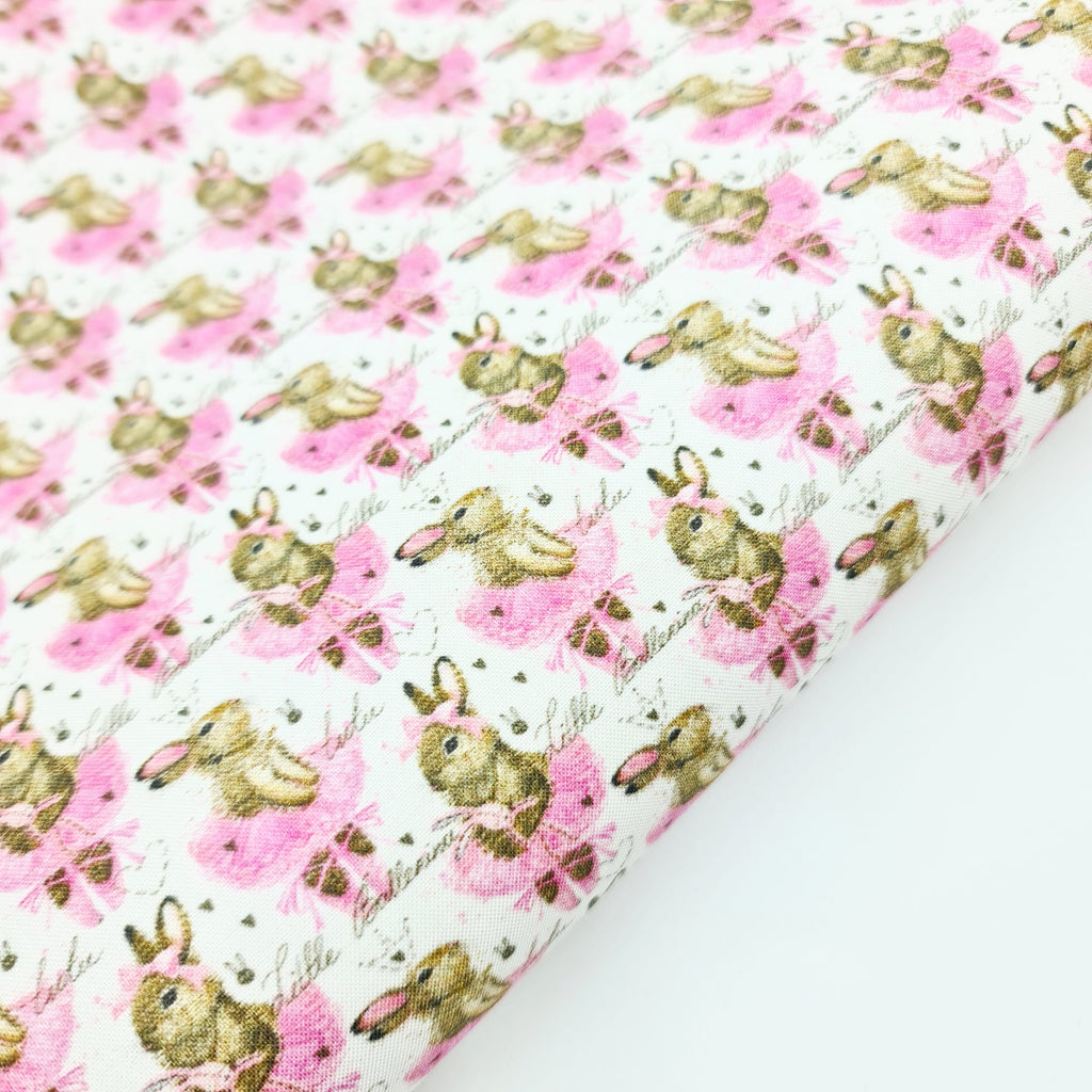 Bunny Ballet Fabric Felt - Jolif The Craft Shop