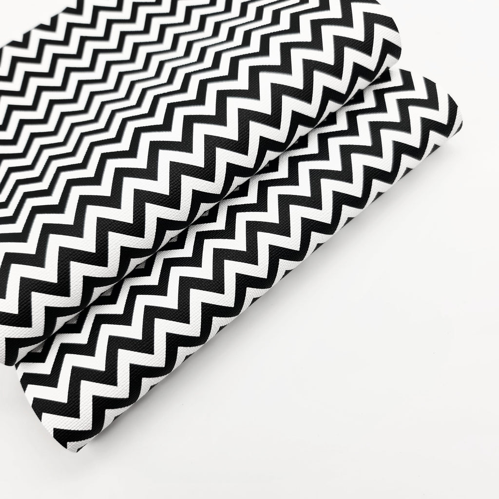 Monochrome Chevron Leatherette - Jolif The Craft Shop