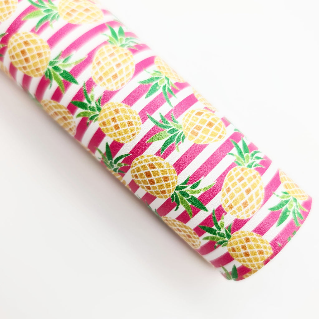 Pineapple Stripe Artisan Leatherette - Jolif The Craft Shop