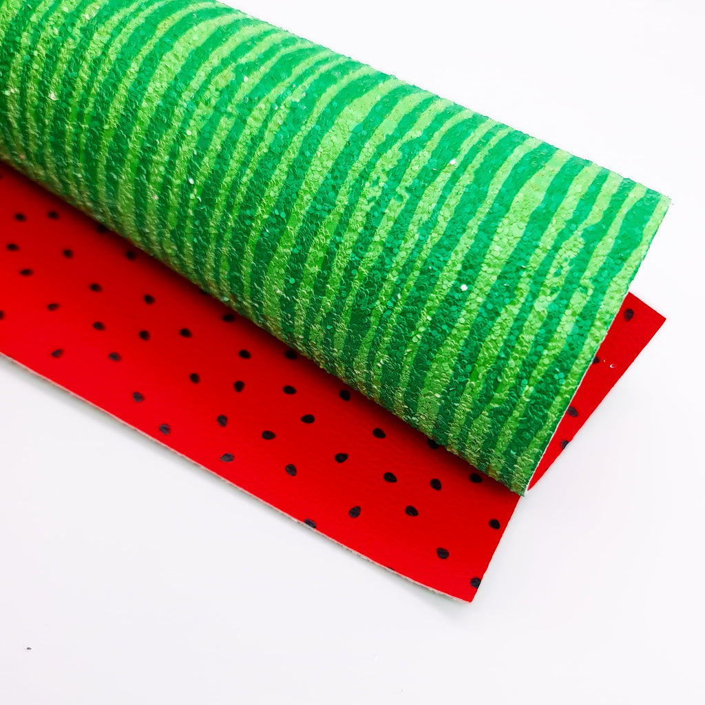 Watermelon Double Sided Chunky Glitter Fabric - Jolif The Craft Shop
