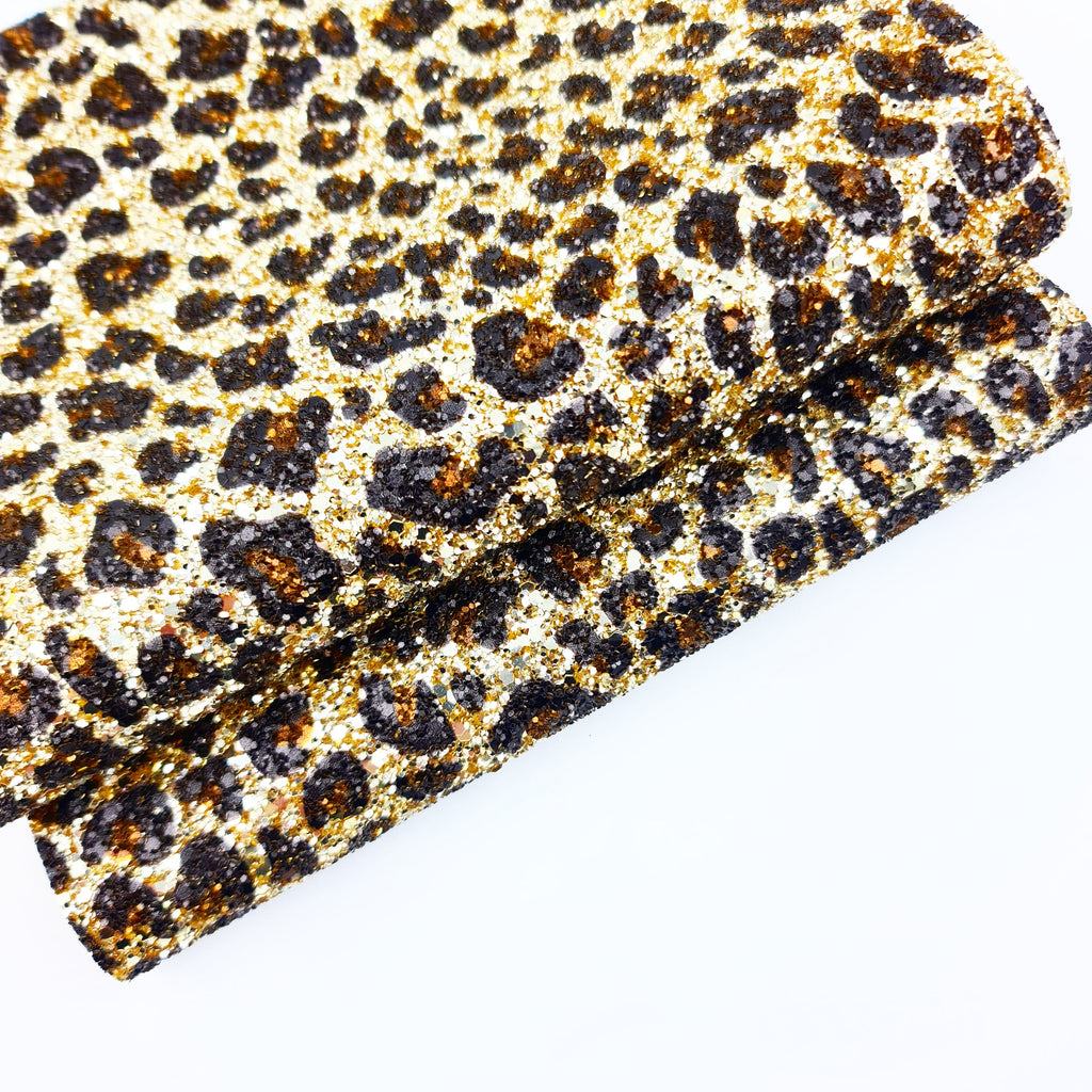 Gold Leopard Chunky Glitter - Jolif The Craft Shop