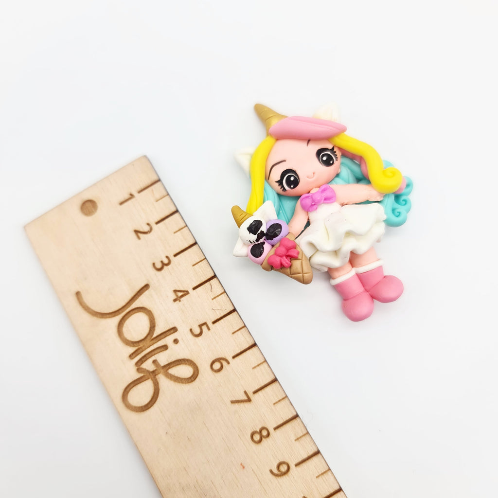 Unicorn Flavour (pink boots) Clay Doll - Jolif The Craft Shop