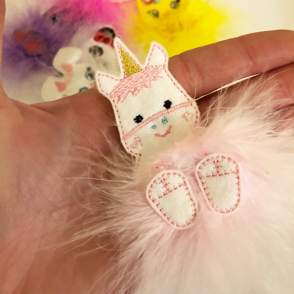 Mabel the Magical Unicorn Fur Baby - Jolif The Craft Shop
