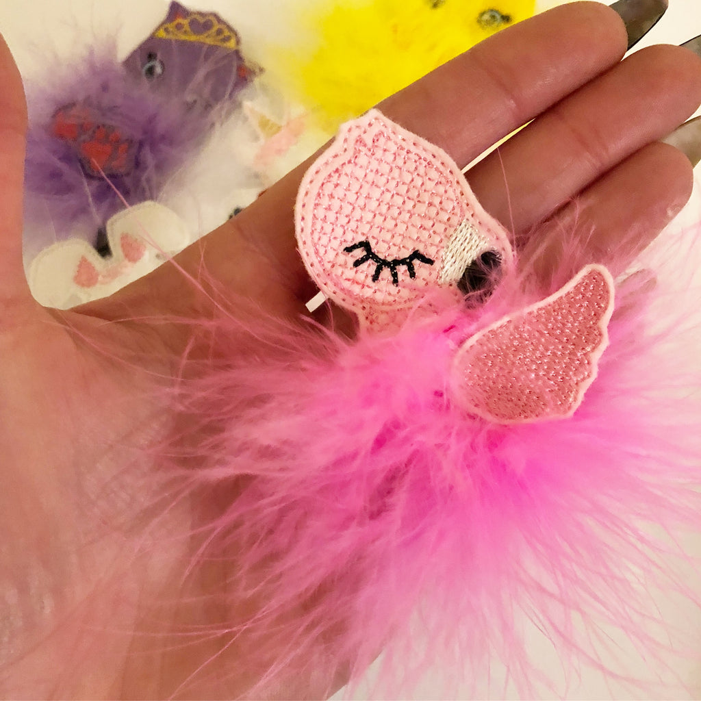 Fearne Flamingo Fur Baby - Jolif The Craft Shop