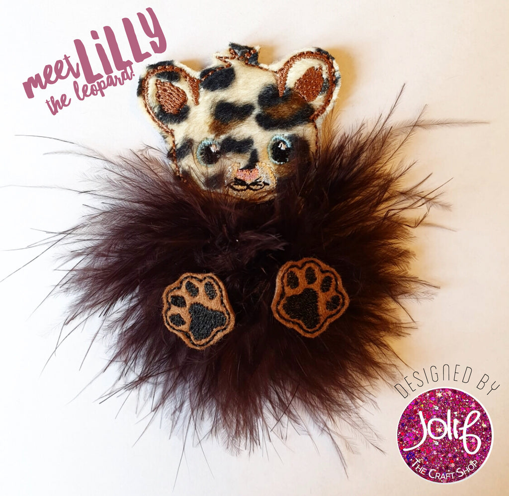 Lilly Leopard Fur Baby - Jolif The Craft Shop