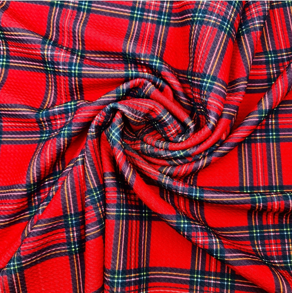 Traditional Christmas Tartan Bullet Fabric - Jolif The Craft Shop