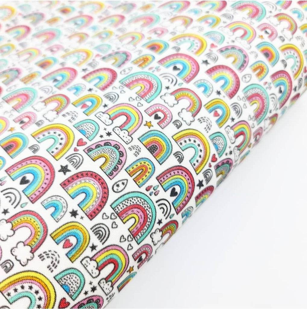 Patterned Rainbows Fabric Felt - Jolif The Craft Shop