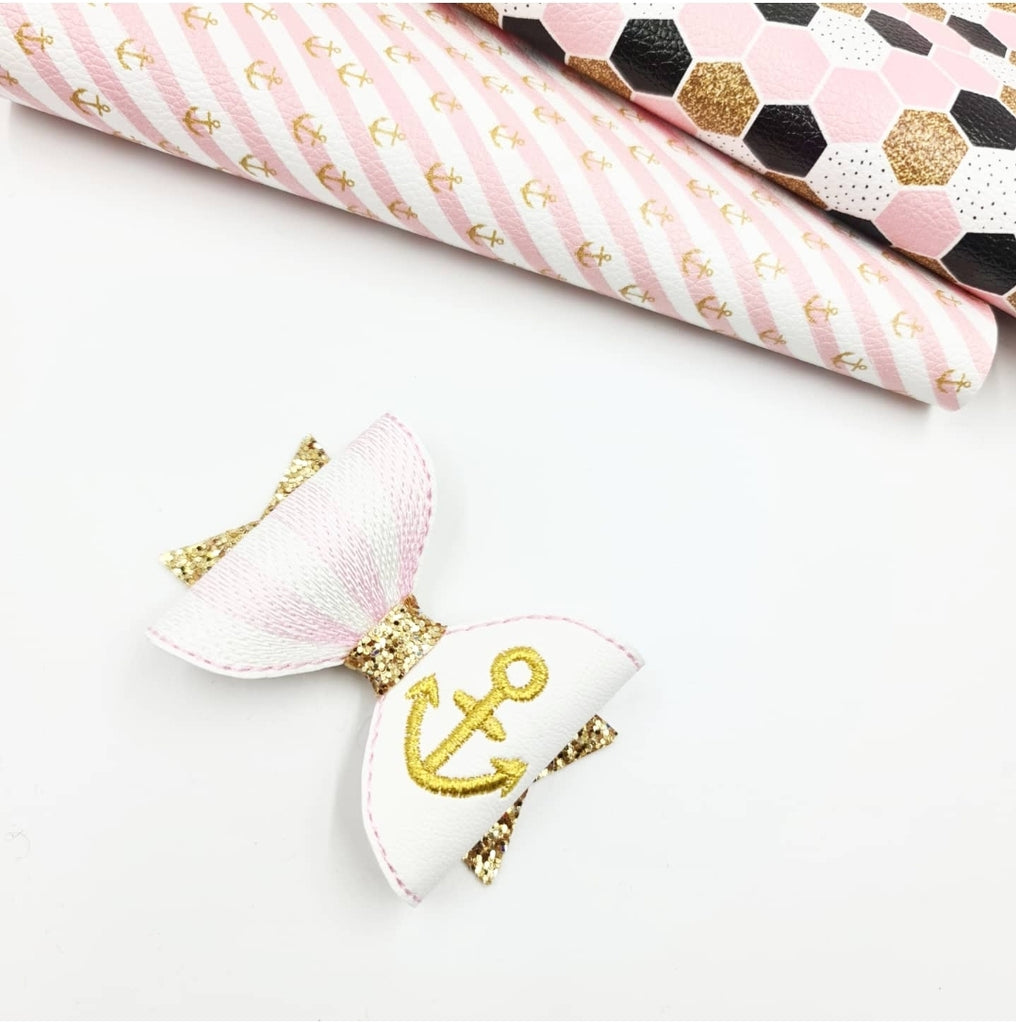 Nautical Motif Stitched Bows - Jolif The Craft Shop