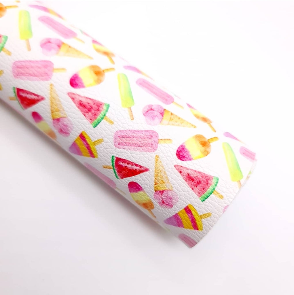 Summer Treats Litchi Leatherette - Jolif The Craft Shop