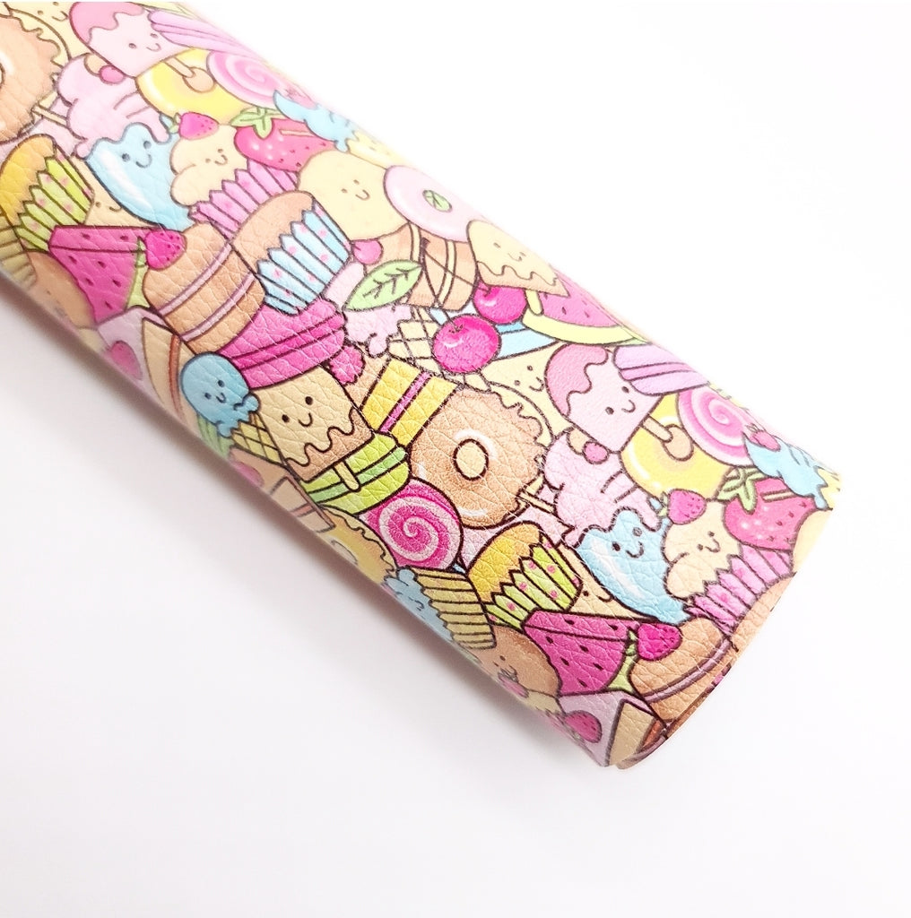 Candy Land Litchi Leatherette - Jolif The Craft Shop