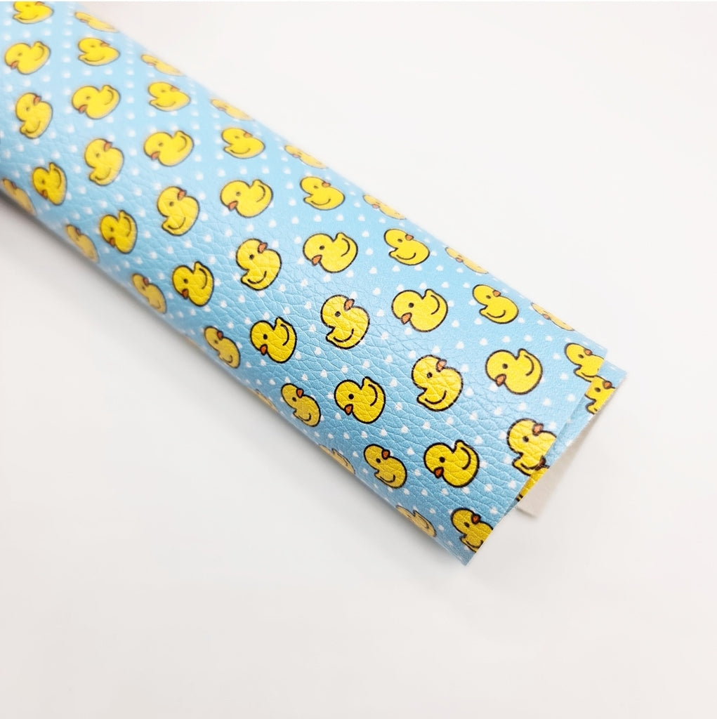 Dotty Duck Litchi Leatherette - Jolif The Craft Shop