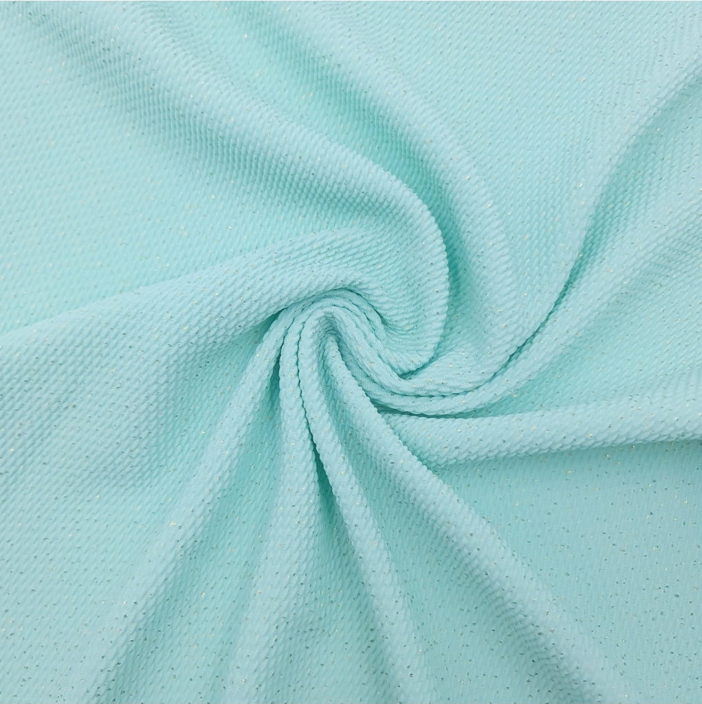 Mint Glitter Bullet Fabric - Jolif The Craft Shop