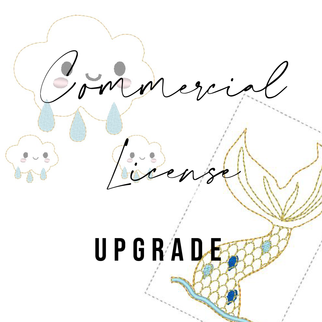 Commercial Use Upgrade (digital embroidery files) - Jolif The Craft Shop