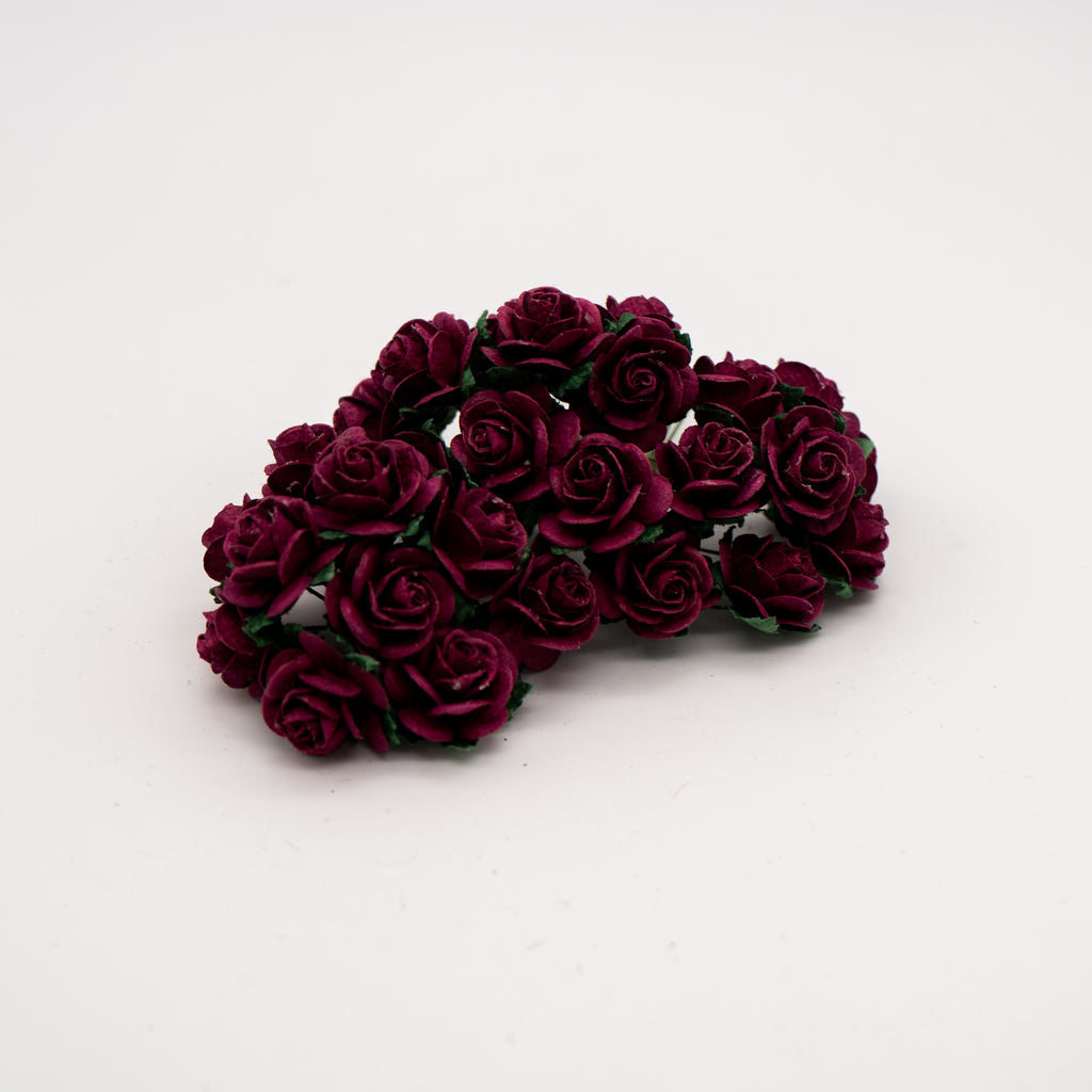 Burgundy Mulberry Flowers - Jolif The Craft Shop
