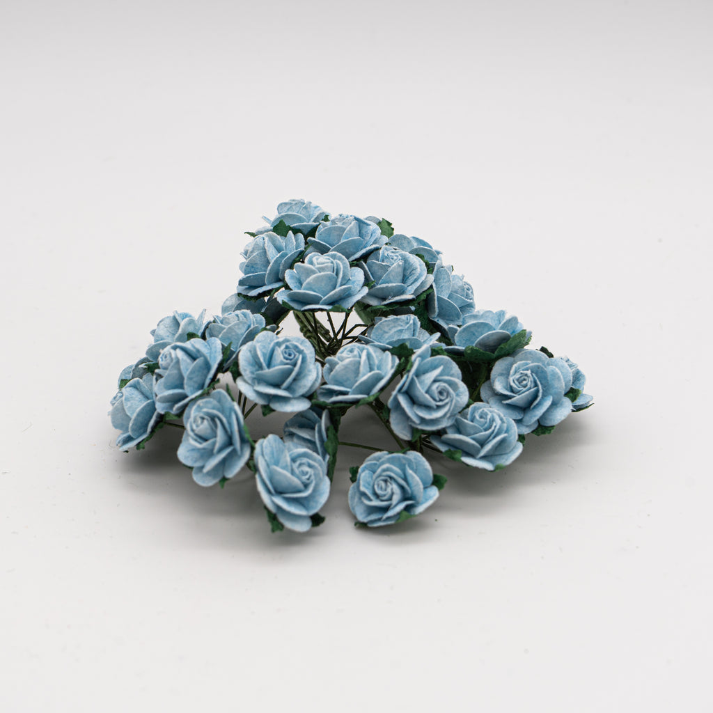 Baby Blue Mulberry Flowers - Jolif The Craft Shop