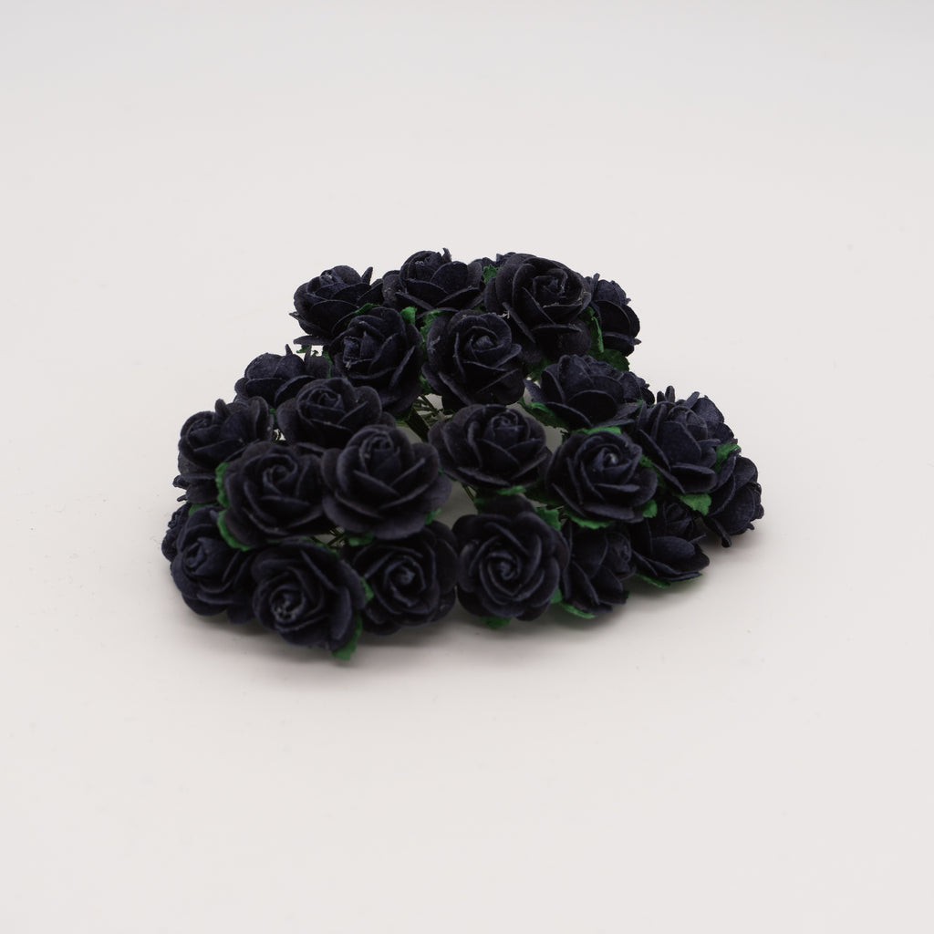 Navy Blue Mulberry Flowers - Jolif The Craft Shop