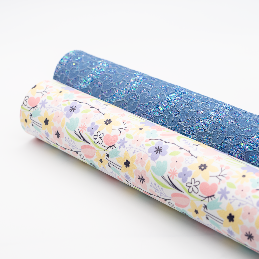 Pastel Blooms Artisan Leatherette - Jolif The Craft Shop