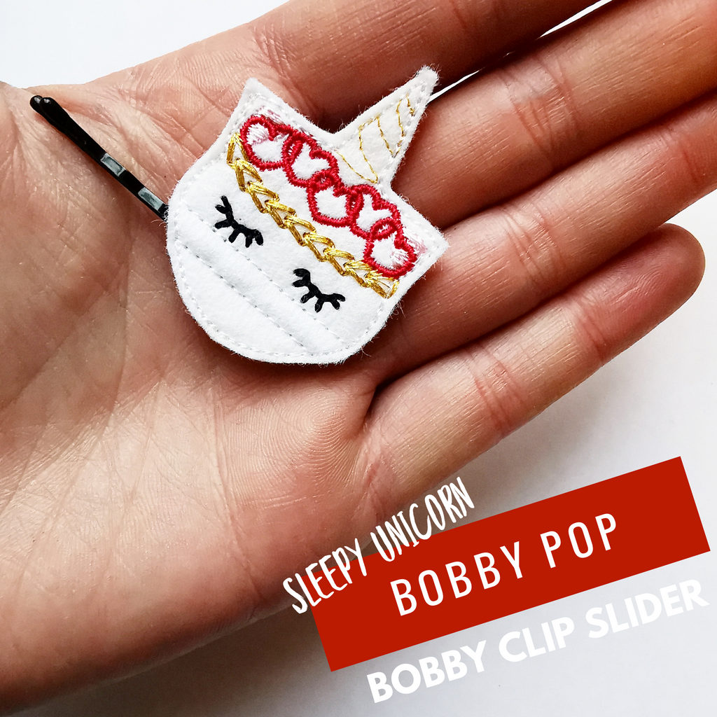 Sleepy Unicorn Bobby Pop! Designed by Jolif - Jolif The Craft Shop