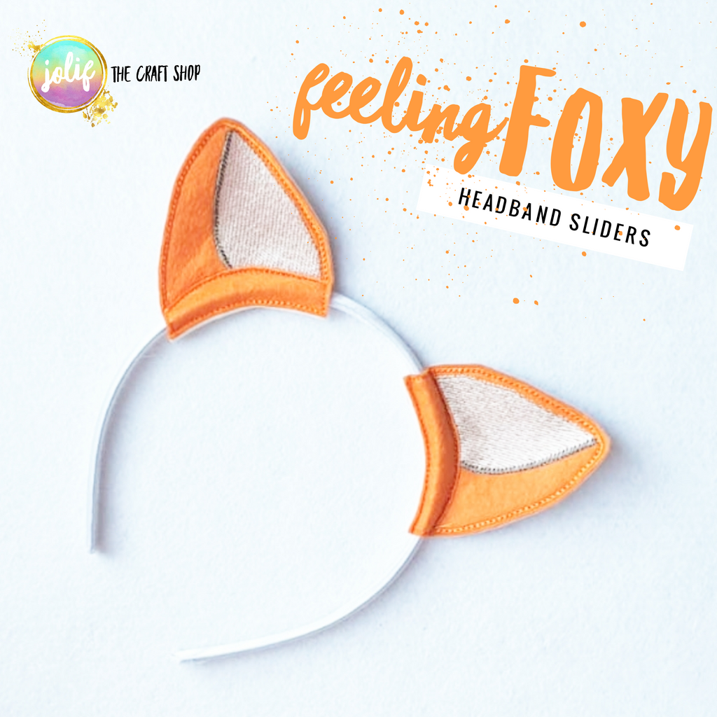 Feeling Foxy Ear Embroidered Sliders