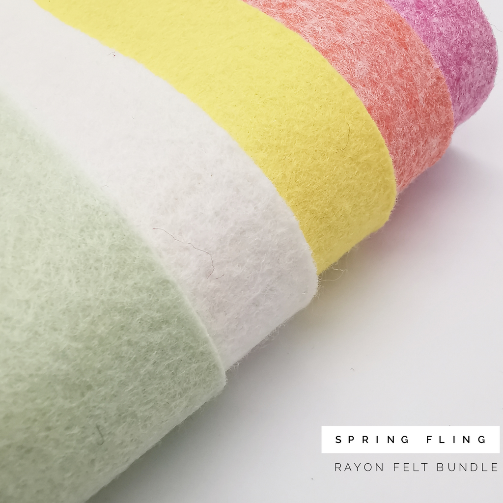 Spring Fling Rayon Felt Bundle - Jolif The Craft Shop
