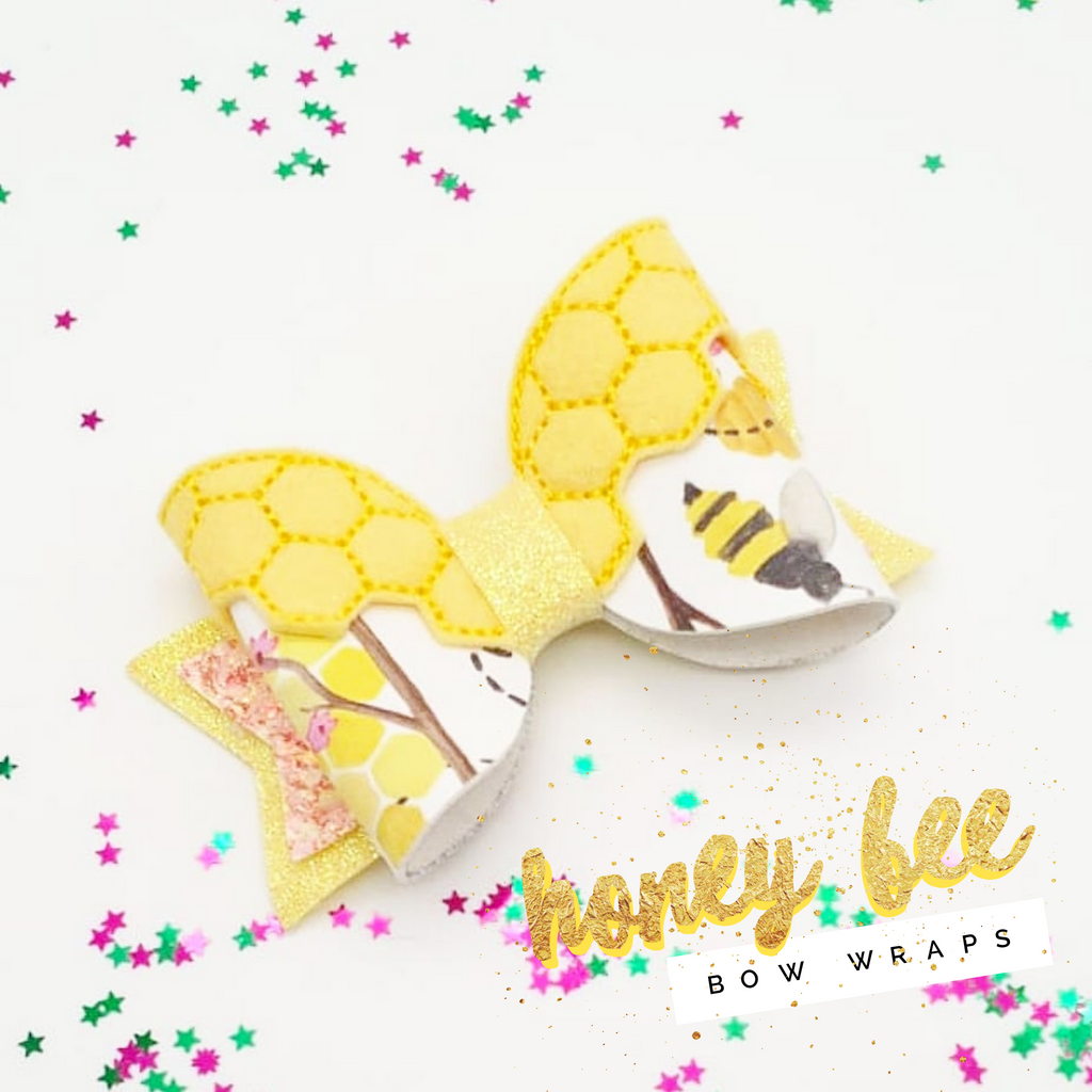 Honey Bee Embroidered Bow Wrap - Jolif The Craft Shop