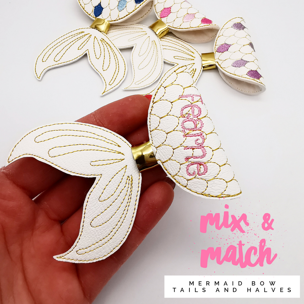 Fold Your Own Personalised Mermaid Bow - Jolif The Craft Shop