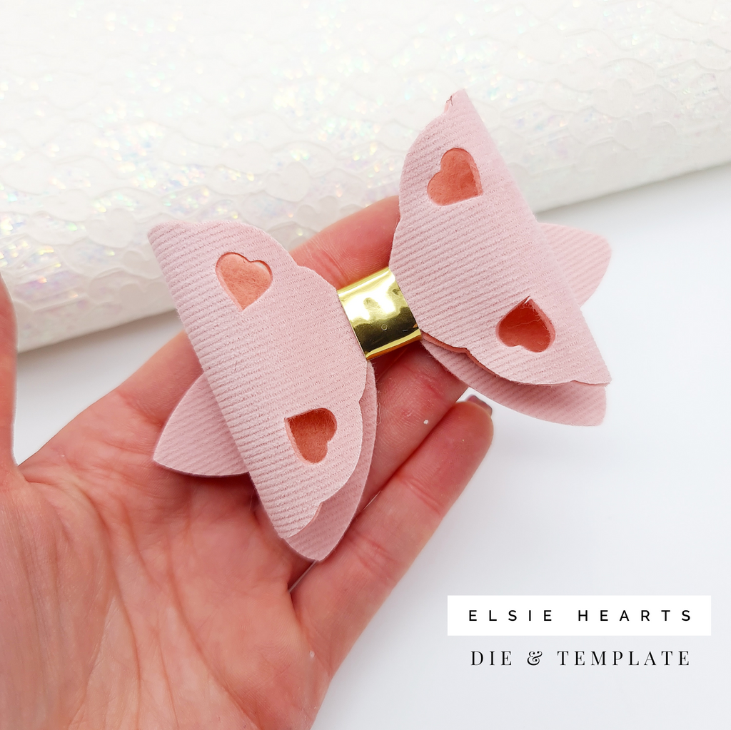 Elsie Hearts Die & Template - Jolif The Craft Shop
