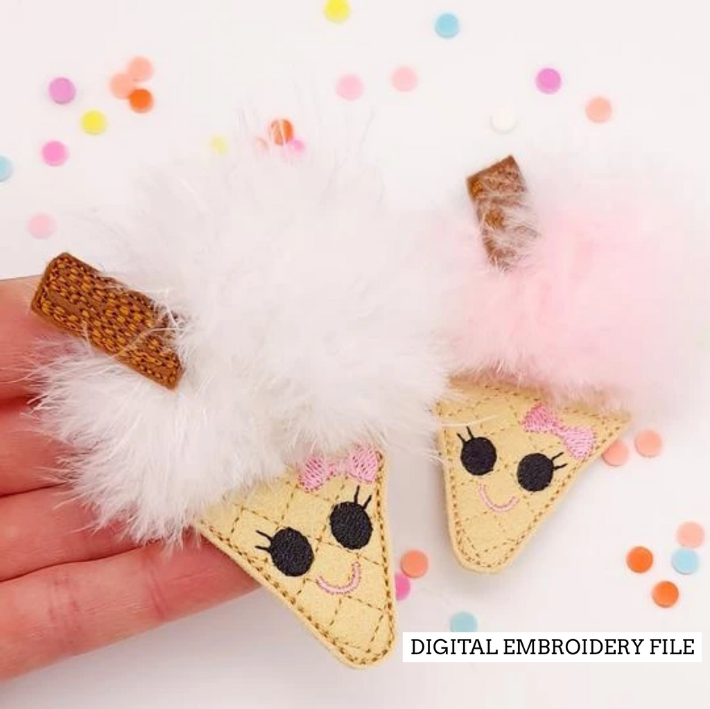 Ice Cream Fur Baby Embroidery File - Jolif The Craft Shop