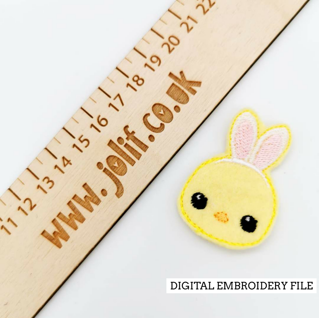 Chick in Disguise Embroidery File - Jolif The Craft Shop