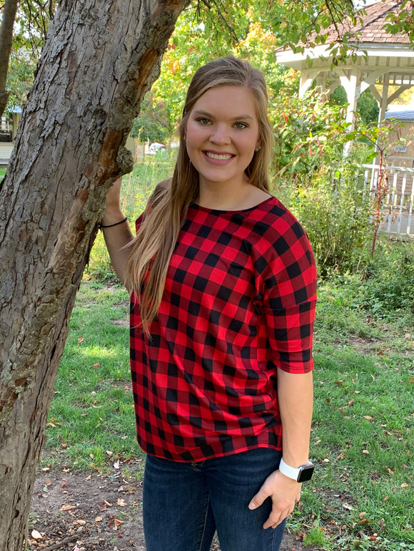 Casual Plaid Top