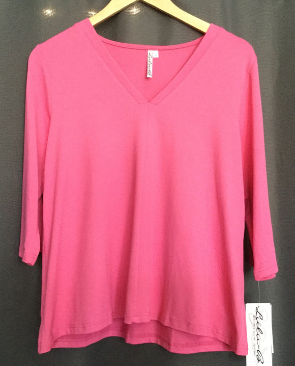 3/4 Slv V-Neck Top