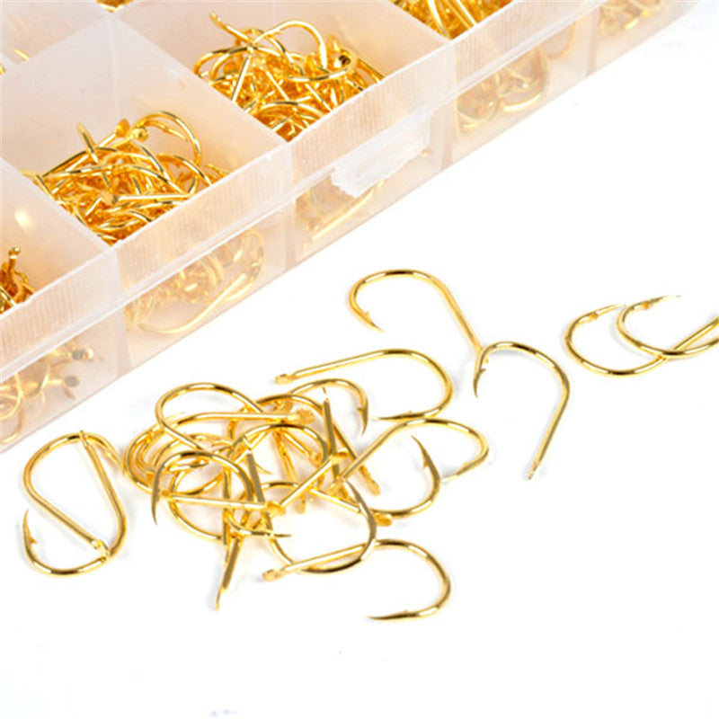 High Quality Fishing Tackle, 500pcs Bulk Hooks & 10 Compartment Tackle Box