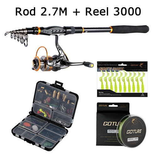 Goture Fishing Rod Combo Sword Telescopic Fishing Rod + Accessories