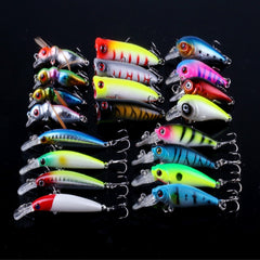 20Pcs Set MUQGEW Mix Minnow Crank Lure Bait Tackle Mixed Models Fishing Lures