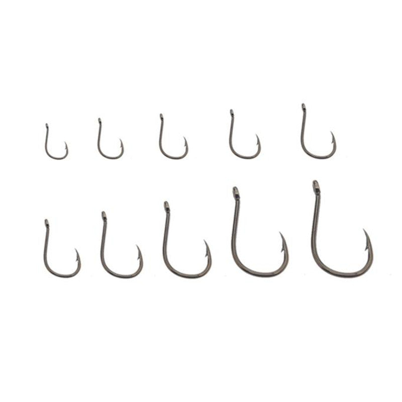 Carbon Steel 500pcs Fishing Hooks Size #3-#12 And Tackle Box