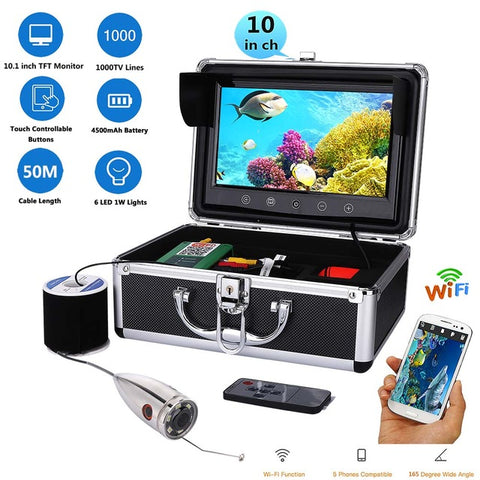 "10"" WiFi Color Monitor & Underwater Fishing Video Camera"