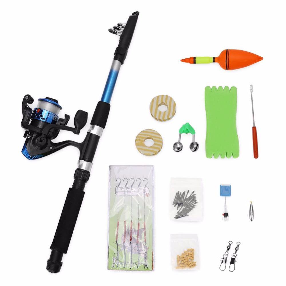 1.8m Fishing Rod Telescopic Reel Combo Sea Saltwater Fishing Kit