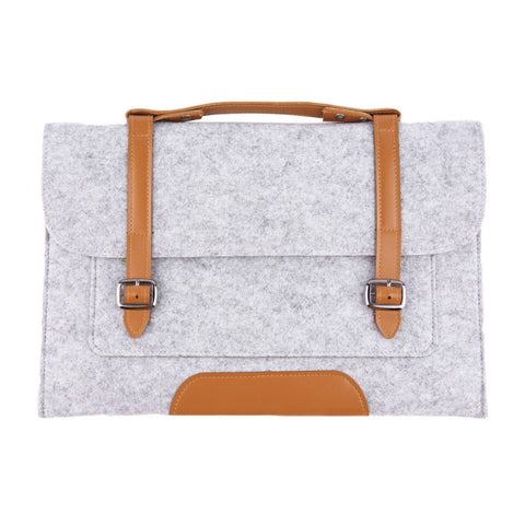 Fashionable Woolen Felt Laptop/Notebook Sleeve Pouch For Apple Macbook Pro Air