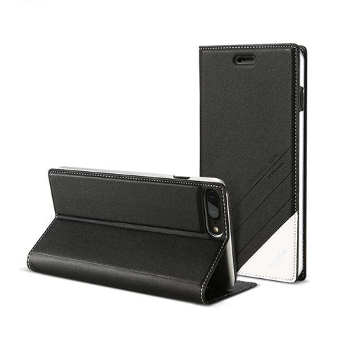 Luxury Magnetic Leather Kickstand & Card Slot Flip Cases For iPhones