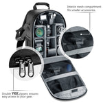 Waterproof Shockproof Partition Protection Camera Backpack for SLR, DSLR, or Mirrorless Camera
