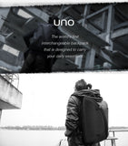 "Multipurpose (Business/Daypack/Rucksack) 15.6"" Laptop Backpack by NIID UNO I (Standard Panel, Black)"