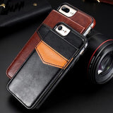 Retro PU Leather Wallet Flip Phone Case For iPhones