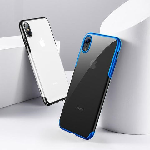 Ultra Thin Luxury Plating Hard Plastic Phone Case For iPhone XS, XR, & XS MAX