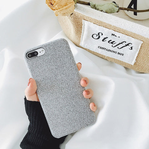 Luxury Soft Cloth Texture Canvas Phone Cases For iPhone 7, 7 Plus, 8, & 8 Plus