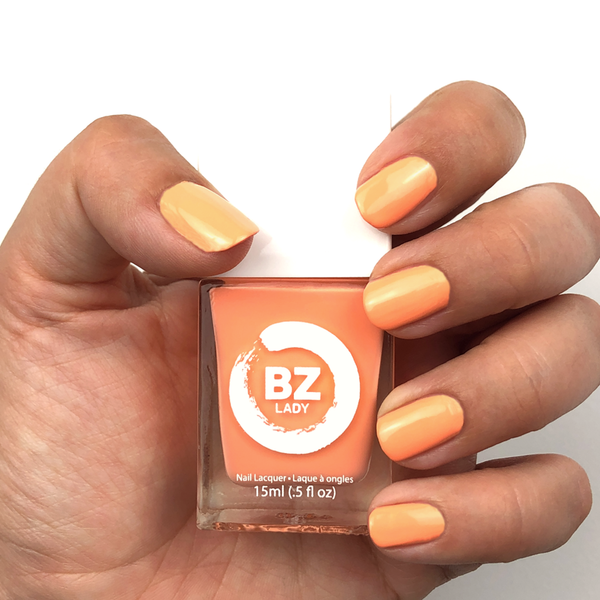 Vegan nail polish orange BZ Lady Tahiti