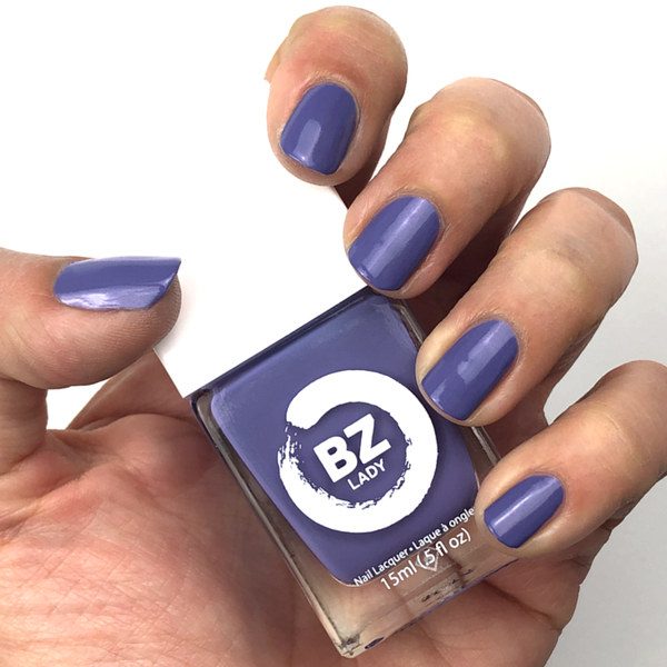 Vegan nail polish purple BZ Lady Prague