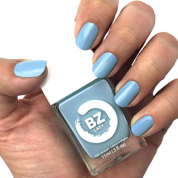 Vegan nail polish blue BZ Lady Malibu